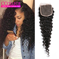 Cheap Human Hair Malaysian Deep Wave Closure 7A Malaysian Virgin Hair Malaysian Deep Curly Virgin Hair Maylasian Curly Closure