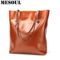 Donne Shopping Bag Sacchetto Femminile del Cuoio Genuino Borsa di Modo Di Stile Della Pelle Bovina di Grande Capacità Totes Big Size Sacchetto di Spalla Delle Signore