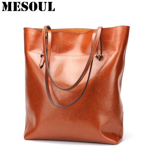 Women Shopping Bag Genuine Leather Female Bag Handbag Fashion Style Cowhide  Large Capacity Totes Big Size . 961dbcda6f