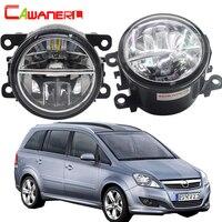 Cawanerl For Opel Zafira B MPV A05 2005 2011 Car Styling LED Fog Light Bulb 4000LM/Set White 6000K Daytime Running Lamp DRL 12V