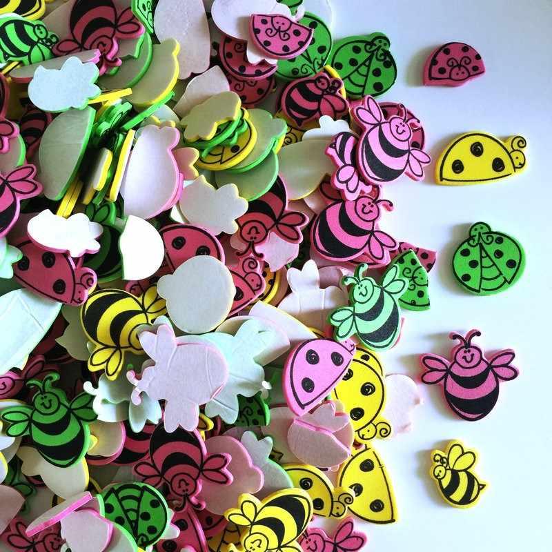 30 cái/LÔ. ong bọ rùa bướm côn trùng bọt dán hàng thủ công Mẫu Giáo Hoạt Động các mặt hàng Trẻ Em phòng trang trí quà tặng Sinh Nhật Bán Hàng