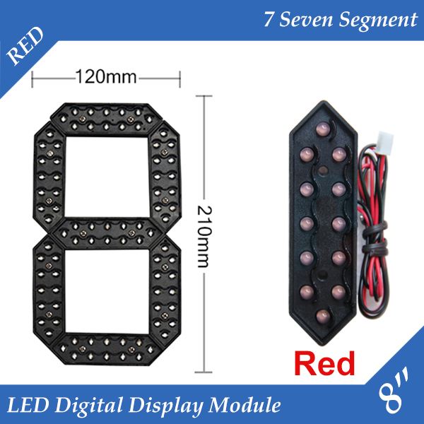 10pcs lot 8 Red Color Outdoor 7 Seven Segment LED Digital Number Module for Gas Price