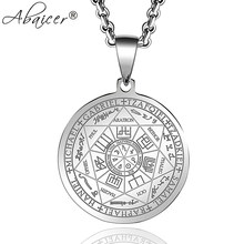 Abaicer Seals Of The Seven Archangels Pendant Choker Statement Silver Stainless Steel Necklace For Women Dress Accessories(China)