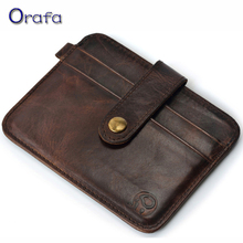2016 New style Mini wallets hasp small purse 100% real leather vintage wallet men purses male clutch crazy horse leather
