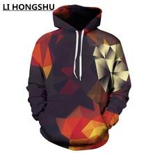 2018 autumn new mens fashion hoodies 3D printing casual hoodie sweatshirts men