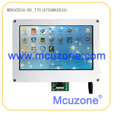 ATSAMA5D36 MDKA5D36-EK_T70 development kit, 536MHz Cortex-A5, 256MB DDR2, 256MB NAND, HS USB, ISI, Dual Ethernet, 6xUART, WIFI