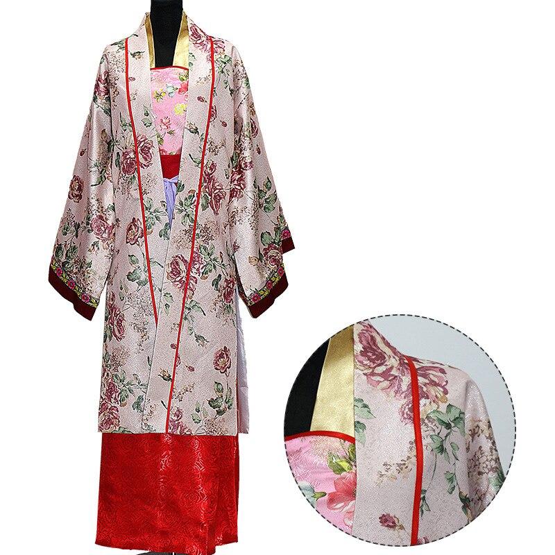 Chinese Oude Tang-dynastie Noble Vrouwen Robe Gown Nieuwe Print Bloem Hanfu Kleding Klassieke Prestaties Kleding Cosplay Kostuum Gunstig Voor EssentiëLe Medulla