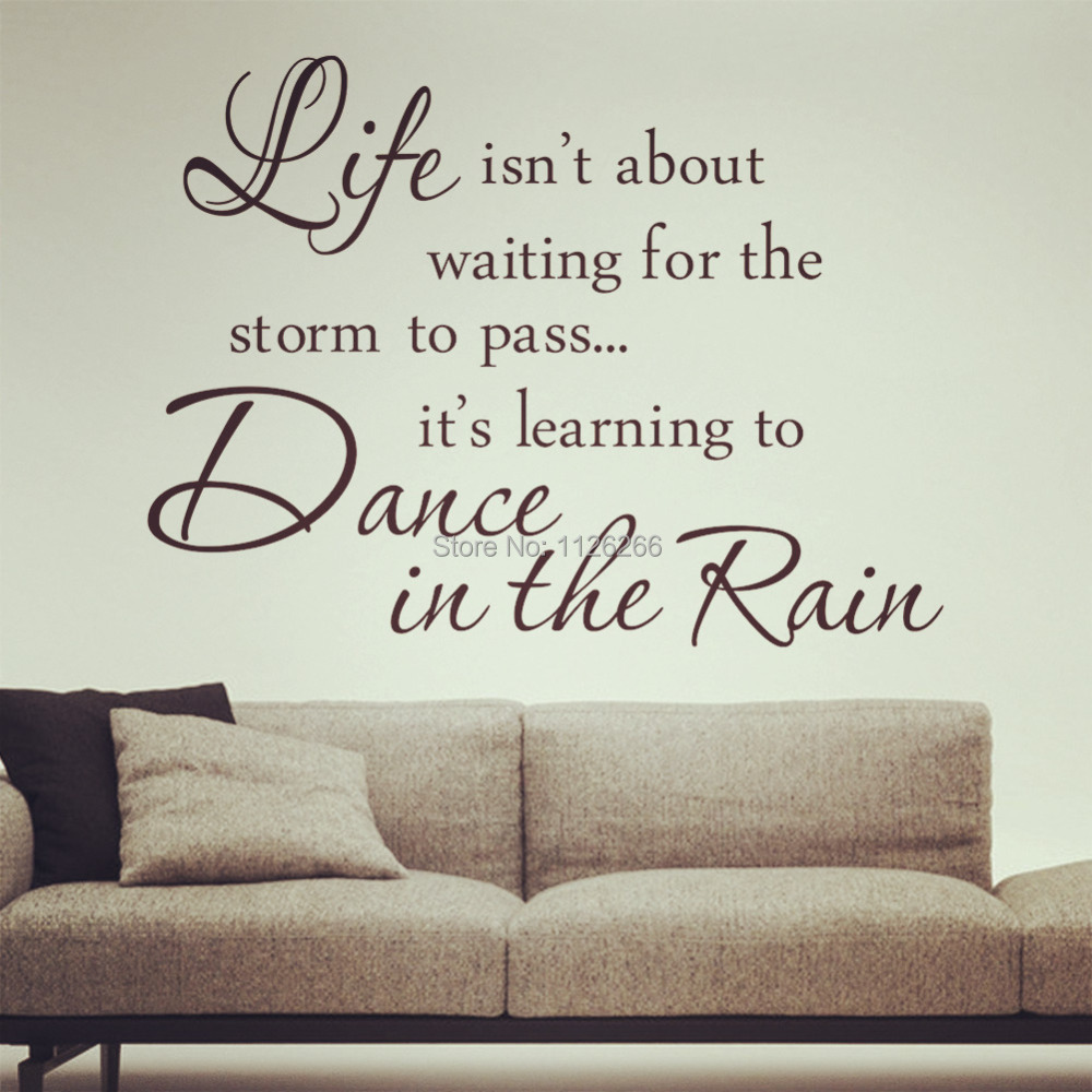 Buy inspirational quotes dance in the for Home decorations quotes