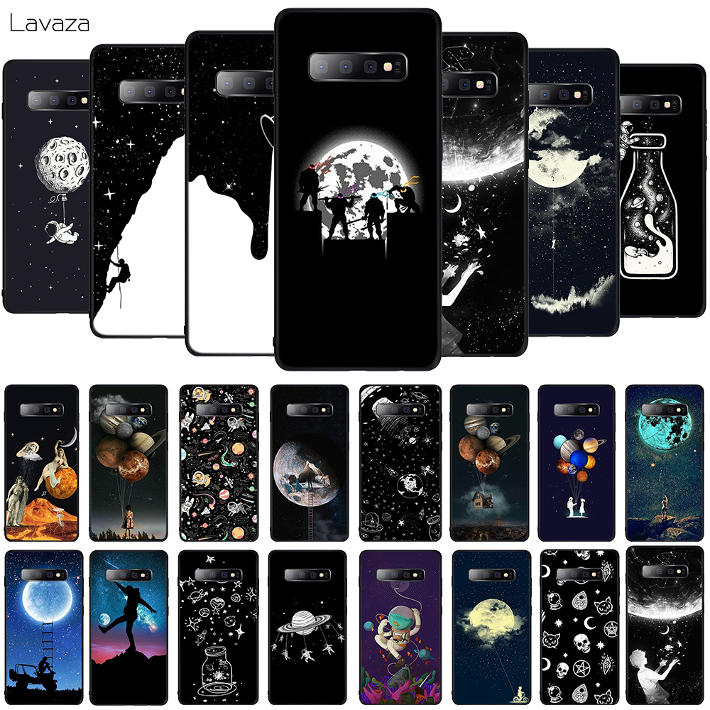 Lavaza Newest Space Moon Astronaut Soft Phone Cover for Samsung Galaxy S8 S9 S10 Plus A6 A8 A9 2018 A30 A50 TPU Case