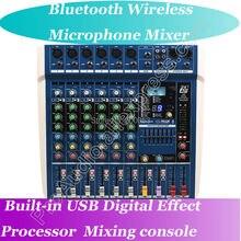 Micwl ZDR600 Live Studio микрофонные Микшеры микшерный пульт Bluetooth Беспроводной USB 24-битный DSP цифровой процессор эффектов De включения Consola