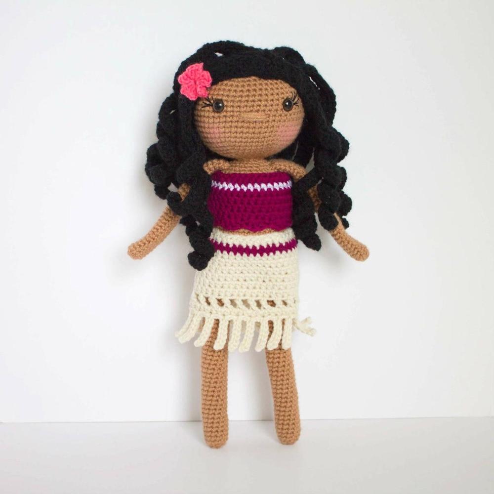 Crochet Toys  Amigurumi    Doll Hawaiian Girl     Model  Number  SQ0012