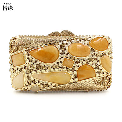 XI YUAN BRAND Luxury Handmade Evening Bag gem Beaded Clutch Purse Diamonds women Party Shoulder bags Handbags Bridal Clutches l64 sandalwood comb green tan comb mini sandalwood comb page 7
