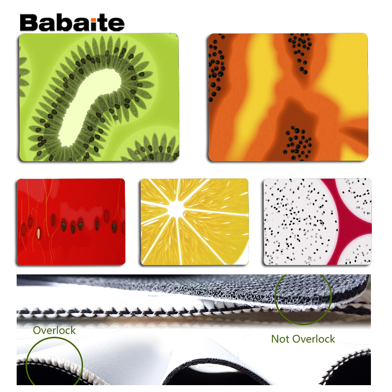 Babaite Beautiful Anime Fresh fruit slices Large Mouse pad PC Computer mat Size for 180x220x2mm and 250x290x2mm Small Mousepad