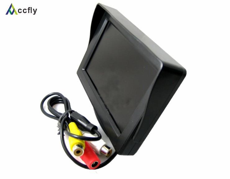 Monitor mini makinë TFT LCD me dritë 4,3 inç për kamera me pamje - Elektronikë e makinave