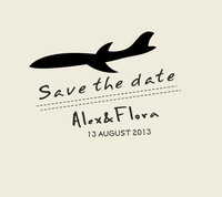 Custom personal aircraft airplane wedding stamp handmade DIY wedding invitations save the date 5*3.5cm