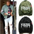 Yeezy Jacket Hip Hop Off White Short Coat Autumn Winter For Man Women Windbreak YEEZUS Tour MA1 Airborne Bomber Yeezus Jacket