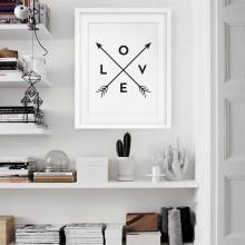 цена Arrow Love Print, Black and White Wall Art, Love Art Wall Decor, Modern Poster Canvas Printings Wall Canvas Cuadros no frame онлайн в 2017 году