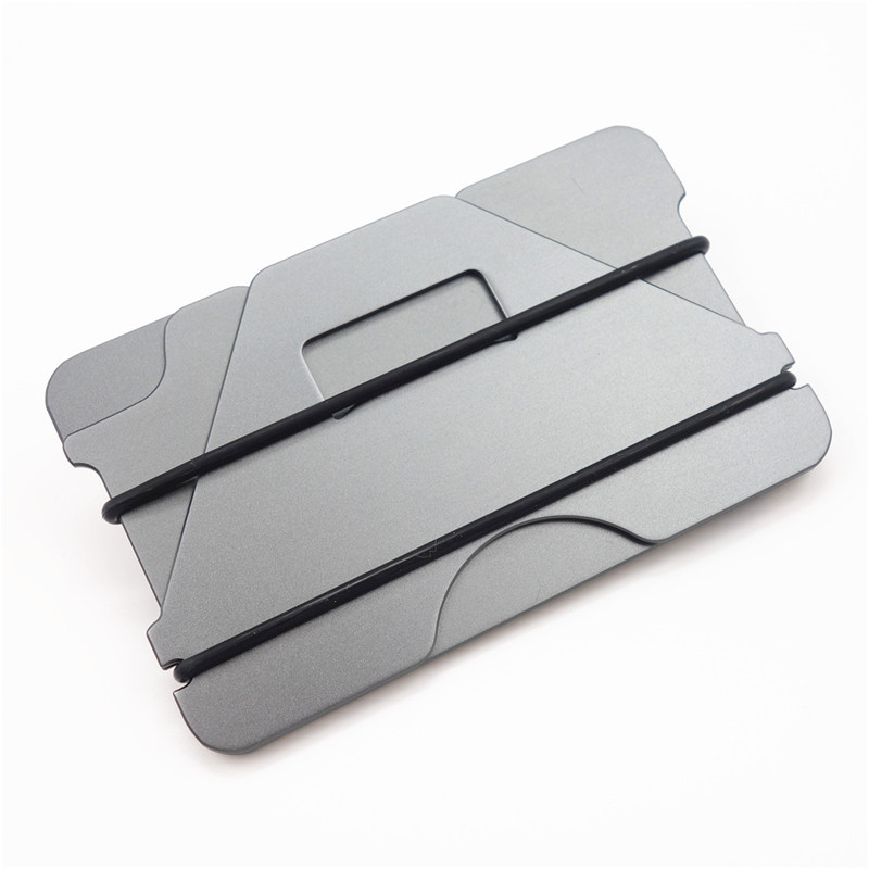 Slymaoyi Multiple Function Metal Credit Card Holder Black Pocket Box ...