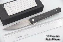 JUFULE Kwaiken ball bearing Flipper folding knife D2 61 HRC blade Titanium carbon fiber kitchen camping