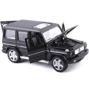 Mini AMG G55 Diecast โลหะของเล่นรถ 1:32 Scale G65 ดึงกลับรถแสงและเสียงอัตโนมัติรุ่นคอลเลกชันอัตโนมัติสำหรับ Boy
