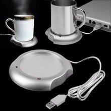 цена на Electric Hot Coasters Coffee Drinks Cup Convenient Heater Portable USB Mat For Heating Warmer Tea Coffee Milk Heater Mug Pad