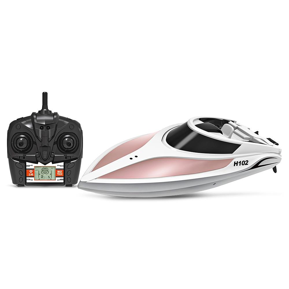 TKKJ H102 Catamaran RC Radiocommande Bateau De Course 2.4 ghz Haute Vitesse RC bateau pour bateau de pêche bateau d'appât avec ÉCRAN LCD Bateau Jouets