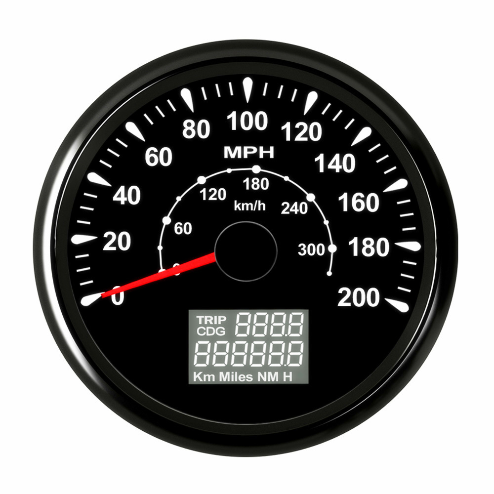 85 Mm Digital Speedometer 200 Mph 300km  H Gps Speedometer