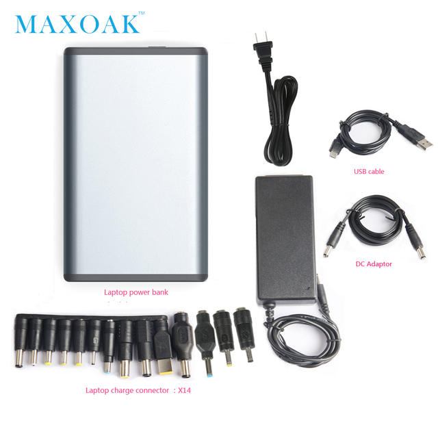 MAXOAK power bank 50000mah 6 output port DC12V/2.5A DC20V/5A notebook power bank can charger laptop, tablet,mobile phone 4