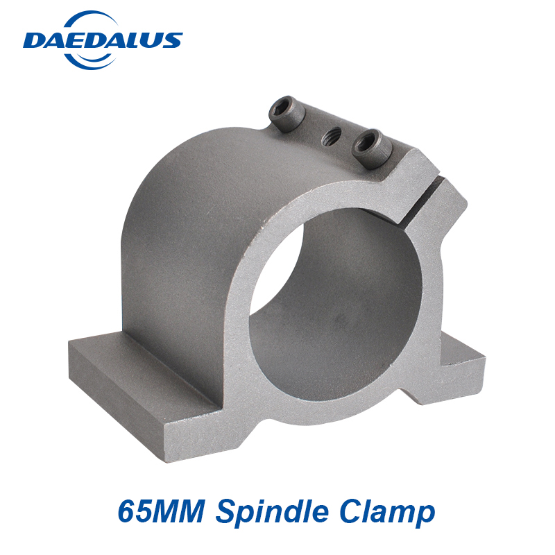 New arrived 65MM CNC Spindle clamp mounts bracket with 4 screws spindle clamp for aluminum spindle motor dia 48mm spindle motor clamp mount bracket with screws special for 300w electric motor