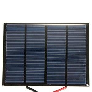 Image 4 - Hot Koop 12 V 1.5 W 100 MAh Polykristallijne silicium Zonnepaneel PV module Mini Zonnecellen Batterij Telefoon oplader met Lasdraad
