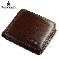 ManBang 2017 Men Wallets Top Quality Wallet Card Holder Multi Pockets Credit Cards Purse Male Simple