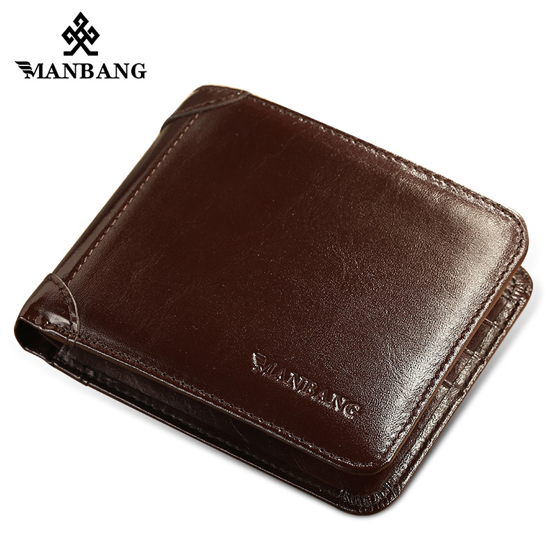 ManBang 2017 Men Wallets Top Quality Wallet Card Holder Multi Pockets Credit Cards Purse Male Simple Design Brand Purse male brief short design wallets credit card holder men purse