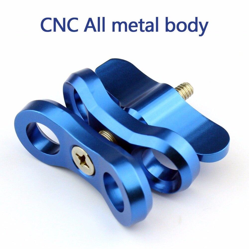 CNC Kamera Zubehör Tauchen Lichter Ball Schmetterling Clip Arm Clamp Mount Aluminium Für Gopro 3 + 4 5 6 Xiaoyi gitup Kamera F21703/05