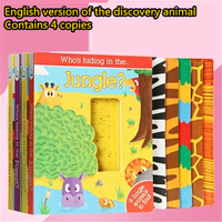3 6 years old children enlightenment English original picture book puzzle early education English cardboard books reading