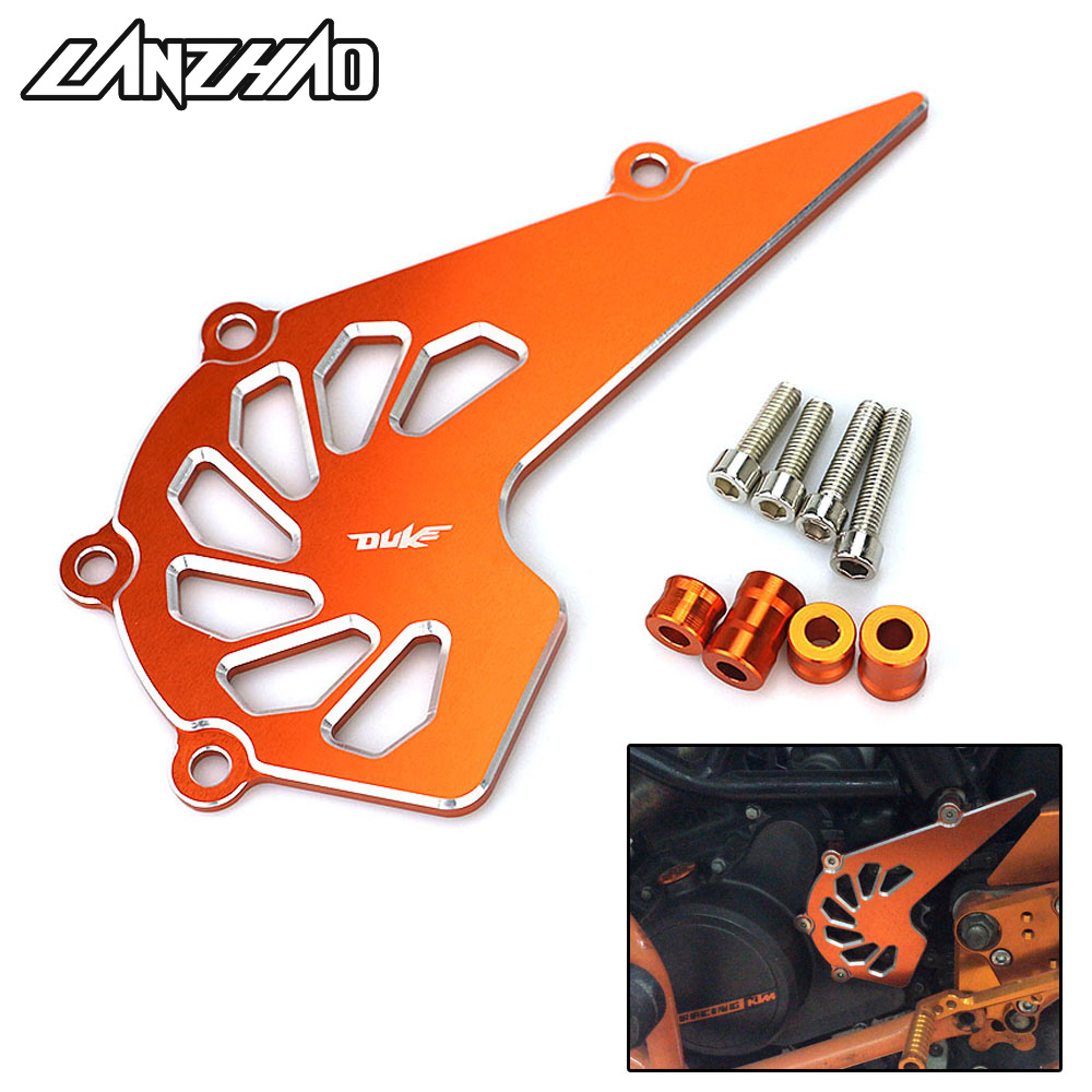 Orange Motorcycle Front Spocket Chain Cover Guard CNC Aluminum Modified Accessories For KTM 125 200 390 Duke 2013 - 2017 2018