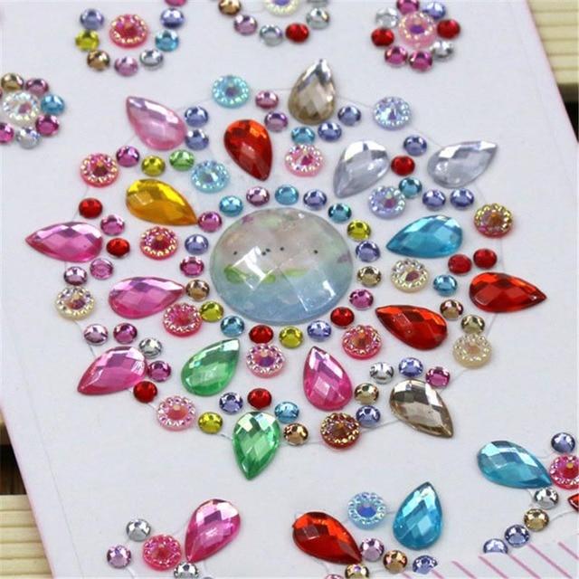 1 piezas de acrílico flor motivo de gotas de agua pegatinas DIY teléfono móvil caso decoración Flatback abalorios de 8Z