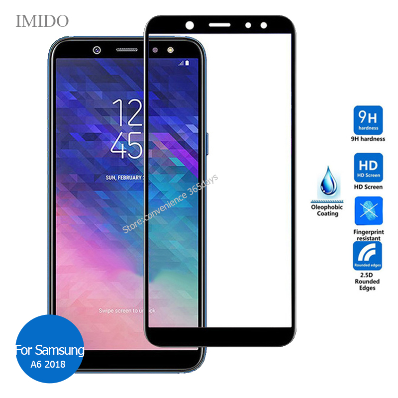 For Samsung Galaxy A6 2018 Full Cover Tempered Glass Screen Protector 9h Safety