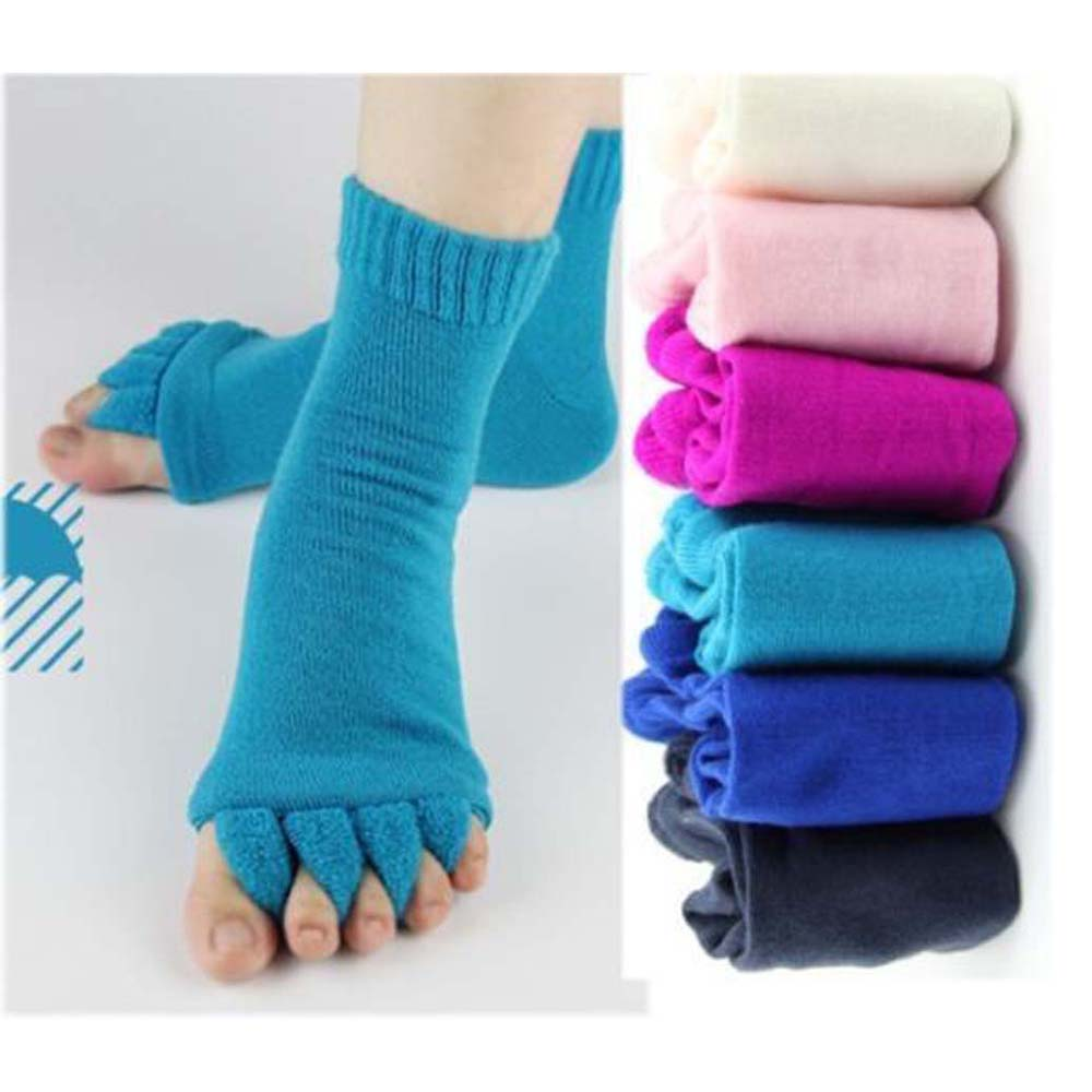 Five Toe Separator   Socks   Pedicure   Sock   Massage SPA Foot Alignment   Socks   for Pain Relief Bunions Foot Care Tool 1 Pair