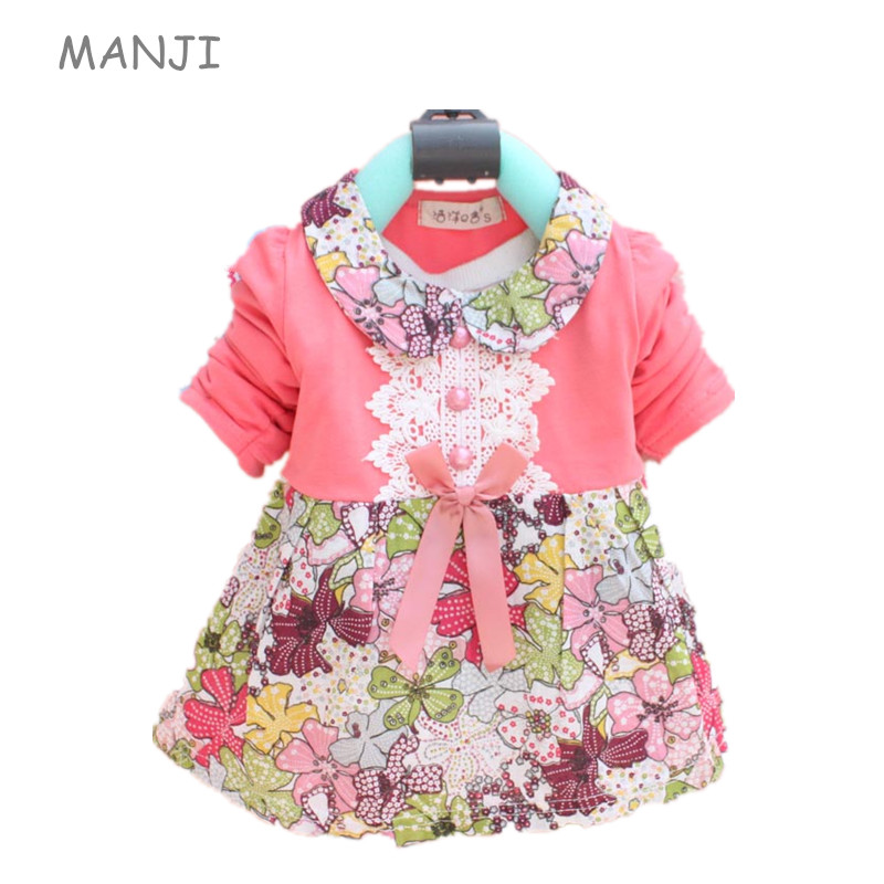 Baby Girls Dress 0 3 years old 2017 Autumn New Fashion