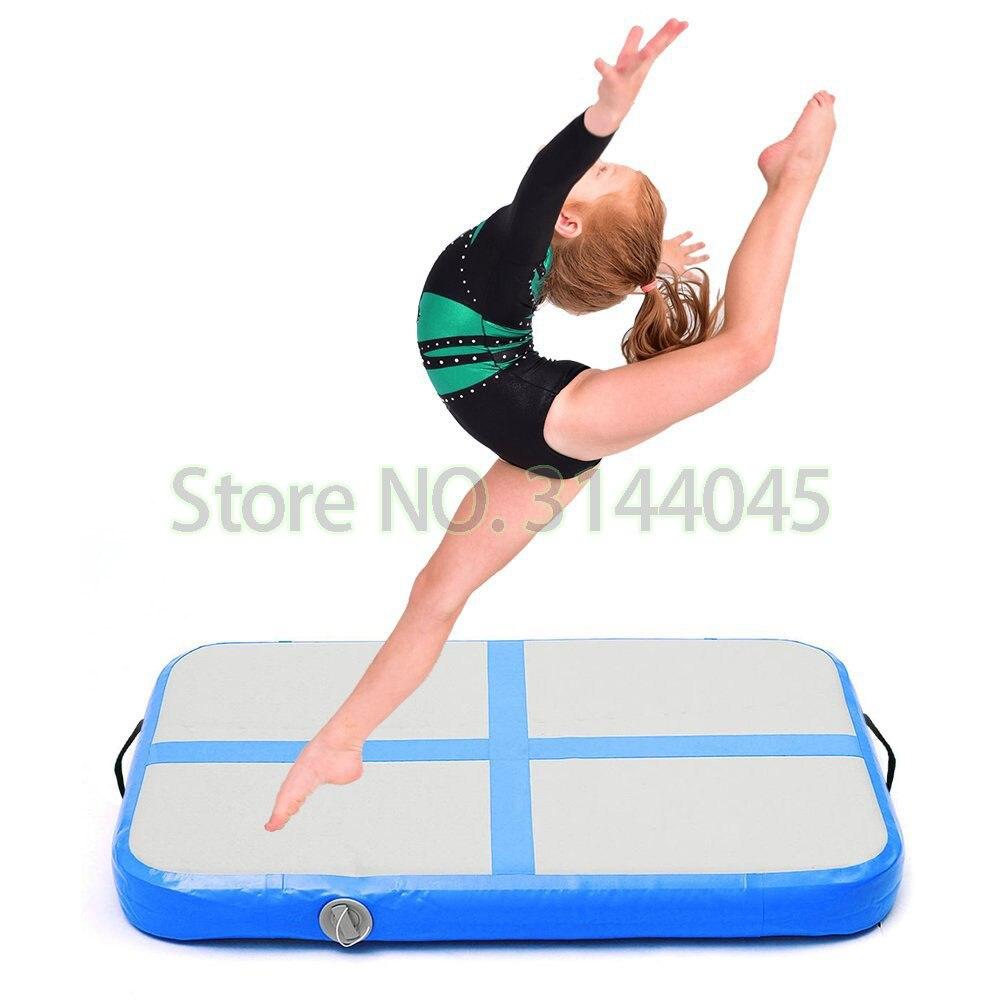 Opblaasbare Gymnastiek Airtrack Tumbling Yoga Air Trampoline Track Voor thuisgebruik Gymnastiek Training Taekwondo Cheerleading 1 m * 0.6 m-in Opblaasbare Bouncers van Speelgoed & Hobbies op  Groep 1