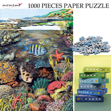 MOMEMO The Intertidal Zone Ecosystem Jigsaw Puzzle Color Paper 1000 Pieces Original Exquisite Hand-painted Puzzles Toys