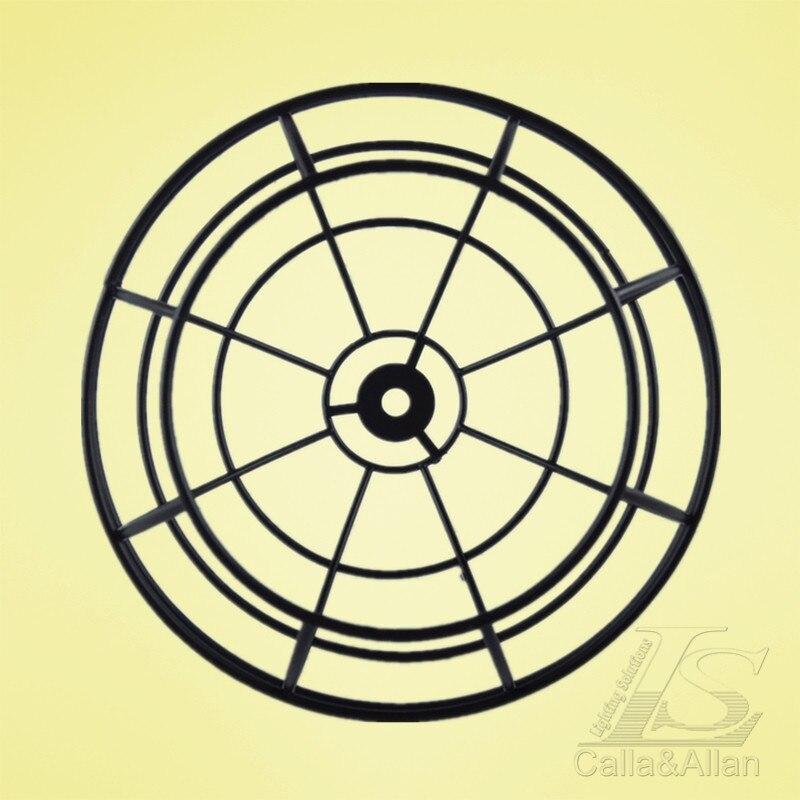 180 мм X 145 мм E27 абажур черный готовой круглой железной клетке Эдисона абажур DIY Черный Железный Абажур для освещения