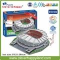 Clever&Happy 3D puzzle China FC  Stadium 3D Puzzle Model Paper Shanghai Hongkou Football stadium DIY puzzle paper model