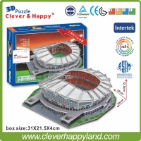 Clever Happy 3D Puzzle China FC Stadium 3D Puzzle Model Paper Shanghai Hongkou Football Stadium DIY