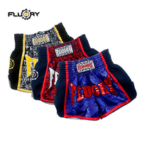 unisex printing flower muay thai shorts retro mma shorts kick boxing pants