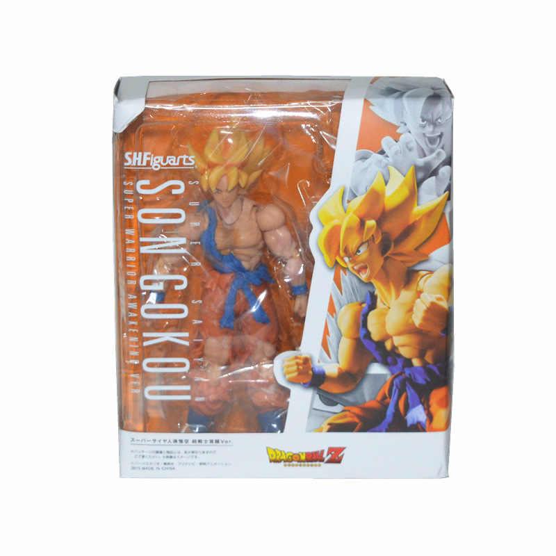 Huong SHFiguarts Anime Figura 17 CM Dragon Ball Z Son Goku Super Guerreiro Despertar Ver. PVC Action Figure Toy Collectible Modelo