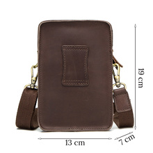 Top Quality Men Waist Pack Genuine Leather Bag