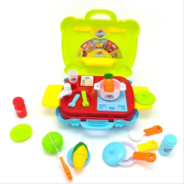 house children kitchen toys set for kids cooking food dishes cookware pretend play kitchen playset - Kitchen Playset