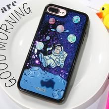 CASEIER Phone Case For iPhone X 6 6s Glitter Quicksand Cover 7 8 Plus Cases 3D Relief Fashion Cool Funda Capinha
