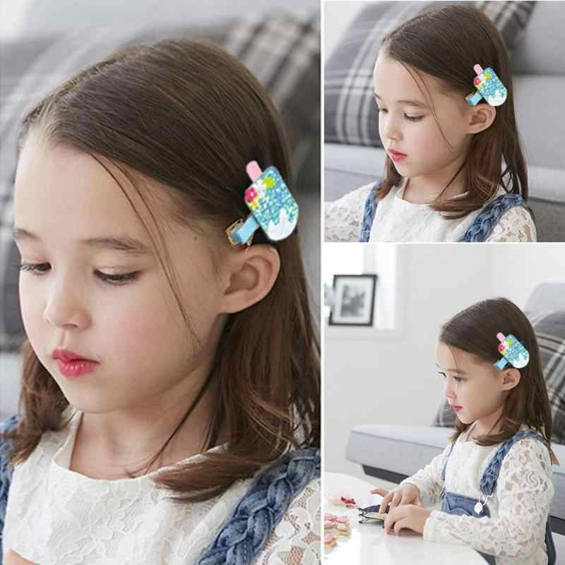 Accesorios de pinza de pelo de princesa para niñas con lentejuelas de fruta bonita